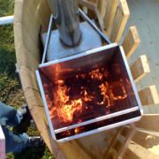 Пека в огне